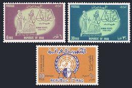 Iraq 344-346,MNH.Michel 380-382. Declaration Of Human Rights,15,1964.Hammurabi. - Iraq