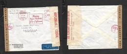 Netherlands Indies, Air Mail, 96c Meter Frank, BANDOENG4.11.40 > S.Africa, Batavia & S.Africa Censor Labels - Netherlands Indies