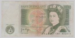 Regno Unito UK Inghilterra England 1 Pound Sterlina 1978 1980 Sign Page - 1952-… : Elizabeth II