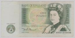 Regno Unito UK Inghilterra England 1 Pound Sterlina 1981 1984 Sign Somerset - 1952-… : Elizabeth II