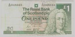 Scozia Scotland 1 Pound Sterlina 1987 Sign Maiden - 1 Pound