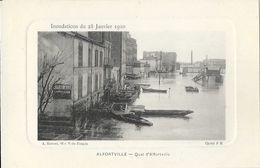 Inondations Du 28 Janvier 1910 - Quai D'Alfortville - Carte De Luxe A. Baroux Non Circulée - Inondations