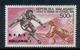 Madagascar 1974 World Cup Soccer Munich Opt Hollande MUH - Madagascar (1960-...)