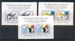 South Korea 1977 World Shooting Championshios 3xMS MUH - Korea (...-1945)