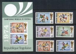 Togo 1974 World Cup Soccer Munich + MS MUH - Togo (1960-...)