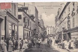 Villeneuve Saint Georges. La Rue De Paris - Villeneuve Saint Georges