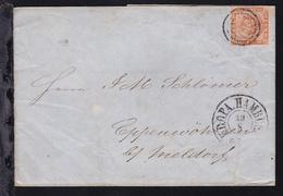 Kroninsignien  4 S. Auf Brief Mit Dreiringstempel 2 (= KDOPA Hamburg) + K2  - Schleswig-Holstein
