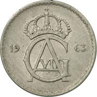 Monnaie, Suède, Gustaf VI, 10 Öre, 1963, TTB, Copper-nickel, KM:835 - Suède