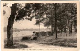 31pt 937 CPA - SAINT SATUR - SAINT THIBAULT - UN COIN DU PARC ET LE PONT - Saint-Satur