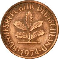 Monnaie, République Fédérale Allemande, 2 Pfennig, 1974, Karlsruhe, TTB - [ 7] 1949-… : FRG - Fed. Rep. Germany