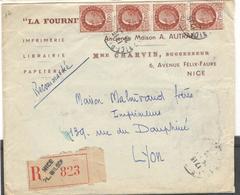 9354 - Recommandée De NICE - Storia Postale