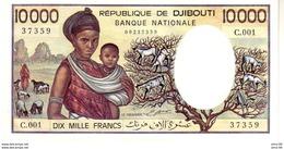 Djibouti P.39a  10000 Francs 1984 Unc - Djibouti