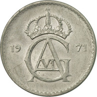 Monnaie, Suède, Gustaf VI, 10 Öre, 1971, TTB, Copper-nickel, KM:835 - Suède