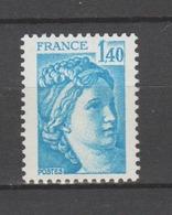 FRANCE / 1978 / Y&T N° 1975 ** : Sabine 1F40 Bleu - Gomme Métropolitaine (brillante) Intacte - Neufs