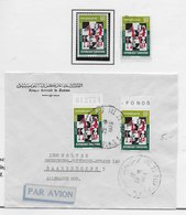 Tunesia 1972; Chess Echecs; Used Cover + Stamps - Tunisie (1956-...)