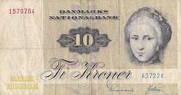 Danemark - Billet De 10 Kroner - 1972 - Dinamarca