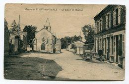 CPA  51 : LIVRY Sur VESLE  Place Avec Café  VOIR  DESCRIPTIF  §§§ - France