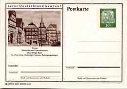 """BRD Bildpostkarte """"Lernt Deutschland Kennen!"""" Wz 10(Pf) Albrecht Dürer, Grün, P72 215101 9/60 """"Fritzlar"""", Ungebraucht - [7] Federal Republic"""