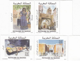 Morocco New Issue 2018,Oujda Arab Cultural Capital 4 V,compml Set MNH- Music,Costume,Archeol.SKRILL PAY ONLY - Morocco (1956-...)