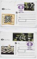 Turkmenistan  ; Chess ; 2x Card With Fdc Cancel - Turkmenistan