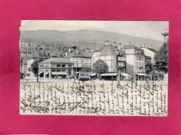 Suisse, Neuchatel, Place Du Port, Animée, Commerces, 1902, (Delachaux) - NE Neuchâtel