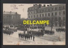 DD / MILITARIA / MONTPELLIER / RÉGIMENT DU 2° GÉNIE / DÉPART POUR L' EXERCICE / ANIMÉE / CIRCULÉE EN 1917 - Regiments