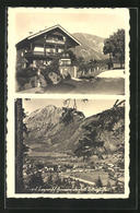 AK Bayerisch Gmain, Gasthaus Bismarck, Ortsansicht - Deutschland