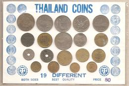Thailandia - Souvenir Sheet - 19 Monete Differenti - Thaïlande
