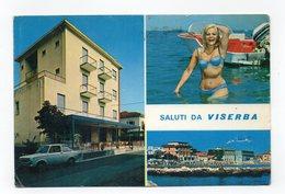 Viserba (Rimini) - Saluti Da - Cartolina Multipanoramica - Pensione Fiorangela - Viaggiata Nel 1974 - (FDC12708) - Rimini