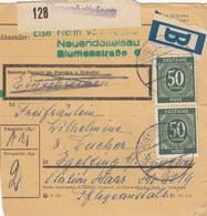 BiZone Paketkarte 1948: Neuendettelsau Nach Eglfing, Einschreiben, Beutelpost - Zone AAS