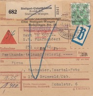 Paketkarte 1948: Untertürkheim-Grünwald, Selbstbucher Kodak Beutelpost Nachnahme - Zone AAS