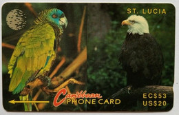 11CSLA Parrot And Eagle EC$53/US$20 - Sainte Lucie