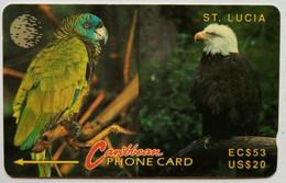11CSLA Parrot And Eagle EC$53/US$20 - Santa Lucía
