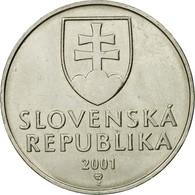 Monnaie, Slovaquie, 2 Koruna, 2001, TTB, Nickel Plated Steel, KM:13 - Slovakia