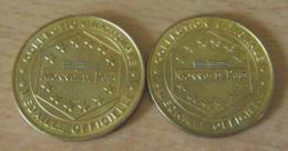 """France - Monnaie De Paris - 2 Médailles Officielles """"L'Armada Du Siècle"""" - Rouen 1999 - TBE - Monnaie De Paris"""