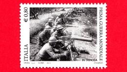 Nuovo - MNH - ITALIA - 2015 - Centenario Della Prima Guerra Mondiale - In Trincea - Mitraglieri - 0,80 - 1946-.. République