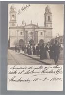 URUGUAY Montevideo La Catedrale Cathedral Ca 1905 OLD PHOTO POSTCARD 2 Scans - Uruguay