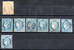 France Frankreich Y&T 59° 1x, 60A 6x, 60C 1X (viele Mit Zahnfehlern) - 1871-1875 Ceres