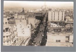 URUGUAY Montevideo Avenida 18 De Julio Tram Ca 1930 OLD PHOTO POSTCARD 2 Scans - Uruguay