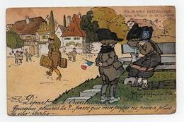 CPA Illustrateur Maréchaux En Alsace Reconquise Enfants D'Alsace Et De Lorraine Départ De L'envahisseur - Autres Illustrateurs