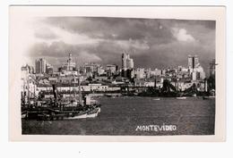 URUGUAY Montevideo Harbour Puerto 1951 OLD PHOTO POSTCARD 2 Scans - Uruguay