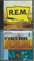 """R.E.M. – """"Out Of Time"""" & """"Singles Collected"""" – 2 CD – 1991 & 1994 – Warner Bros & IRS Records – Made In Germany & USA. - Rock"""
