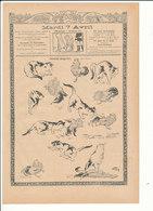 2 Scans Presse 1903 Humour Combat De Coq Et Chat Thème Combats De Coqs Boulanger Pain Beurre Canada Québec 223CH4 - Vieux Papiers