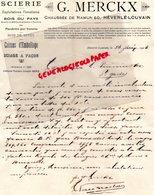 BELGIQUE HEVERLE- LOUVAIN- -RARE LETTRE 1923  MANUSCRITE G. MERCKX-SCIERIE CHAUSSEE DE NAMUR 60- BOIS DU PAYS - Old Professions