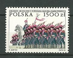 POLAND MNH ** 3260 BICENTENAIRE DE L'HYMME NATIONAL DABROWSKI MAZURKA. GENERAL DABROWSKI. SOLDAT. LEGION Musique - 1944-.... Republic
