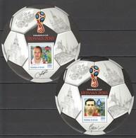 O592 2016 BURUNDI FOOTBALL WORLD CUP RUSSIA TIKHONOV KHOUSSAINOV 2BL MNH - Coupe Du Monde