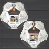 O595 PRIVATE ISSUE 2016 BURUNDI SPORT FOOTBALL MESKHI CHALIMOV 2BL MNH - Coupe Du Monde