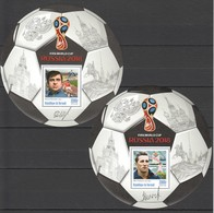 O603 PRIVATE ISSUE 2016 BURUNDI SPORT FOOTBALL CHESTERNEV KHOURTSILAVA 2BL MNH - Coupe Du Monde