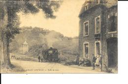 Limont - TRAM A VAPEUR - Chapelle - Arrêt Du Tram - Desaix - Circulé - 2 Scans. - Donceel