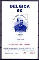 BELG.1989 Belgica 90 BL J-B-MOENS Lim.edition - Erinnophilie